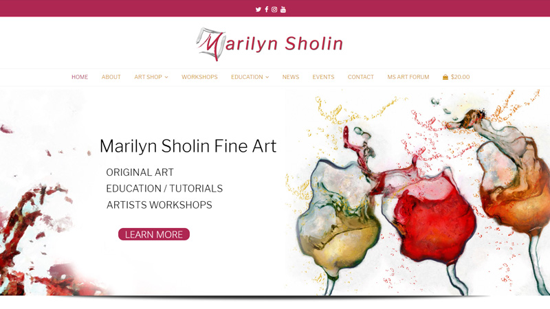 Welcome to the new Marilyn Sholin Fine Art